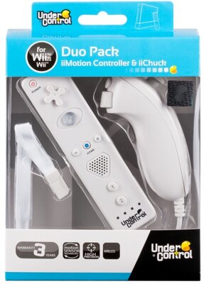 Wii Remote + Nunchuck Pack White