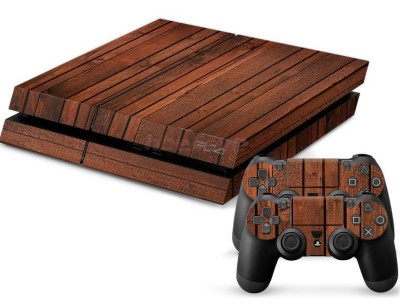 PS4 polep Wood