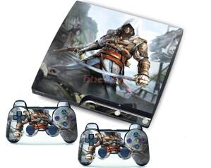 PS3 slim polep AC Black Flag
