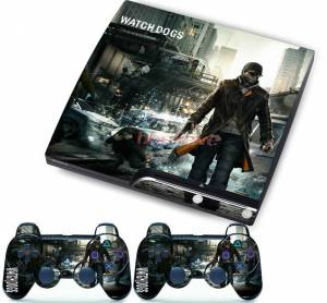 PS3 slim polep Watch Dogs