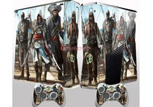 Xbox 360 Slim polep Assassins Creed Black Flag na palube